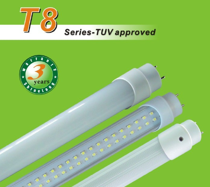 TUV Approved T8 LED Tube Lights (AC/DC)