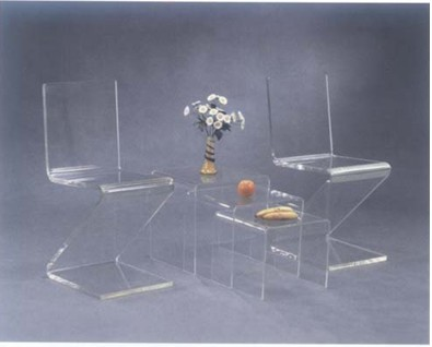 Crystal Table & Chairs (FAY-510)